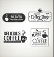 retro vintage coffee design collection vector image vector image