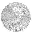 round floral composition vector image