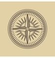 Round Linear Vintage Compass Logo vector image