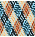 Seamless tartan pattern Diagonal orange blue vector image vector image