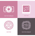 set of wedding photography logo design templates vector image