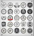 set retro vintage labels and badges 02 vector image vector image