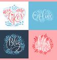 social media lettering set vector image
