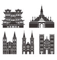 southeast asia isolated asian buildings on vector image vector image