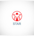 star winner logo vector image