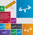 swing icon sign buttons Modern interface website vector image vector image