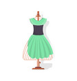 tailor mannequin with dress isolated icon vector image