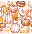 thanksgiving day and halloween seamless pattern vector image vector image