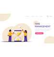 time management concept people stand near the vector image vector image