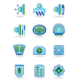 Urban public buildings icons set vector image vector image