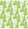 Vibrant Green Plants Seamless Pattern vector image vector image