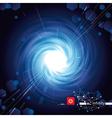 Vortex Blue Tech vector image vector image