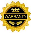 warranty gold badge vector image vector image