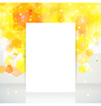 White page layout with place for your text yellow vector image vector image
