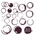 coffee or wine stain round spots vector image