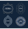 Set Luxury Logos template flourishes calligraphic vector image