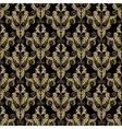 golden damask seamless pattern vector image