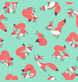 little cute squirrels seamless pattern for gift vector image