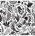 abstract black and white repeatable seamless vector image vector image