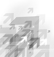 Abstract grey background with many arrows vector image vector image