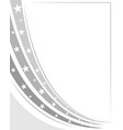 abstract us flag monochrome border vector image vector image