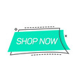 advertising blue tag for shopping vector image vector image