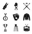 arbitrator icons set simple style vector image vector image