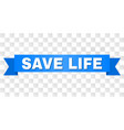 blue stripe with save life text vector image vector image