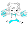 Cartoon cheerleader vector image vector image