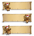 Christmas Elks Papyrus White Background vector image vector image