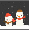 cute snowman christmas in winter theme vector image
