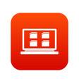 desktop icon digital red vector image vector image