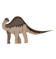 diplodocus on white background vector image vector image