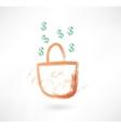 earnings grunge icon vector image