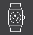 fitness tracker line icon fitness and sport vector image vector image