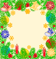Frame of the branches of spruce and trimmings vector image vector image