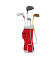 golf clubs bag vector image vector image