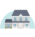 Grey two story house vector image
