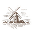 hand drawn country vector image vector image