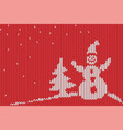 knitted christmas background vector image
