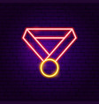 medal award neon label vector image