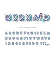 mermaid scale font for birthday cards posters vector image vector image