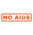 No AIDS Rubber Stamp vector image vector image