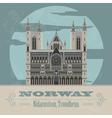 norway landmarks retro styled image vector image vector image