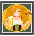 Oktoberfest Poster Girl With Beer Festival vector image vector image