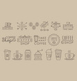 original linear labels for coffee houses cafe and vector image vector image