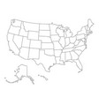 outlined map usa vector image vector image