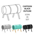 playground tunnel icon in cartoon style isolated vector image