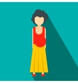 Pregnant woman flat icon vector image vector image