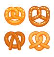 pretzel icon set cartoon style vector image